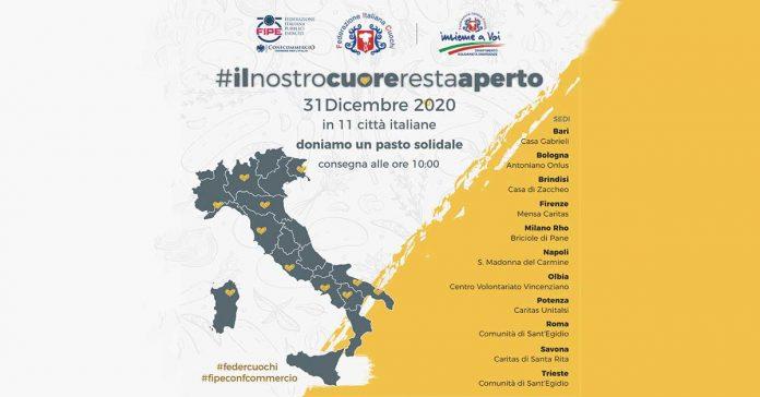#ilnostrocuorerestaaperto: la ristorazione italiana, pur in ginocchio, a fianco di chi ha più bisogno