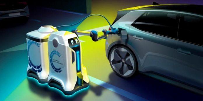 ll robot mobile di Volkswagen per la ricarica
